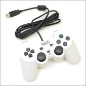 Woopso Manette Vibrante Filaire Ps3/Pc Blanche