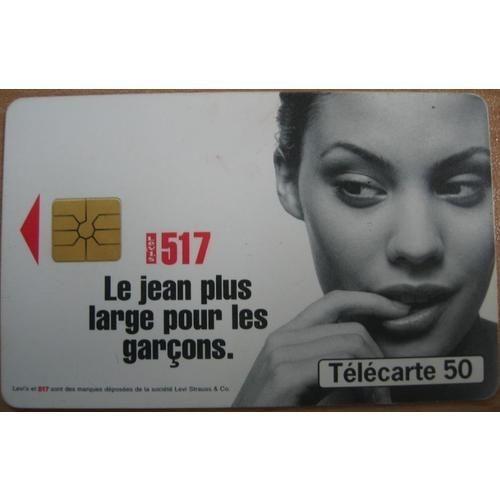Télécarte 50 <strong>levis</strong> 517 le jean plus large pour les garçons
