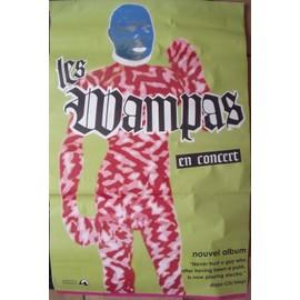 LES WAMPAS Affiche de concert 120x80