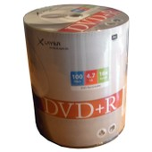 DVD+R 4.7 Go 16x vitesse Xlayer cellophane de 100