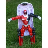 Voiture Power Rangers Transformable Rouge 16cm