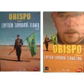 """""""duo"""" d'affiches de Pascal Obispo Captain Samouraï flower"""