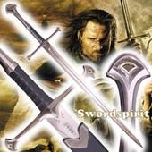 Le Seigneur Des Anneaux Aragorn Anduril Ep�e + Fourreau / Lame Avec Gravure