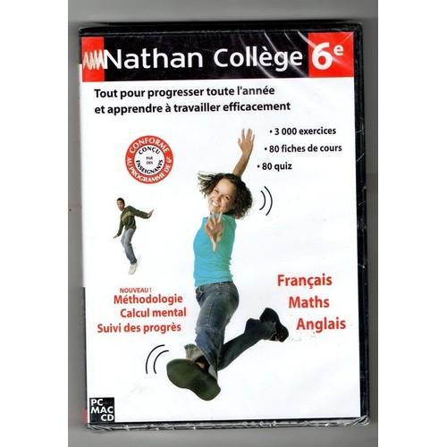 Nathan Collège 6ème Français Maths Anglais - Cd-Rom