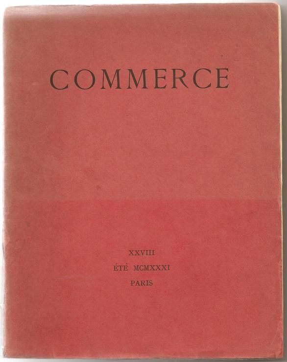 Commerce N° 28 Du 01/07/1931