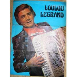 LOULOU LEGRAND A L'ACCORDEON POSTER ORIGINAL DE 1978 FORMAT 30 X 21 CM