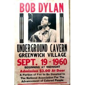 affiche de concert bob dylan
