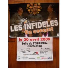 les infidèles.affiche du concert 2009