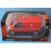Renault Trafic Mini Bus Pompier France 18 112 Oliex Red 1/43