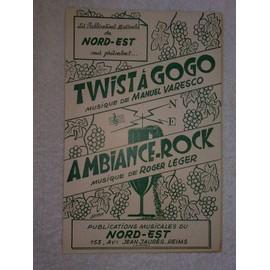 """""""twist à gogo""""   (musique de manuel varesco)   //   """"ambiance-rock""""   (musique de roger léger)"""