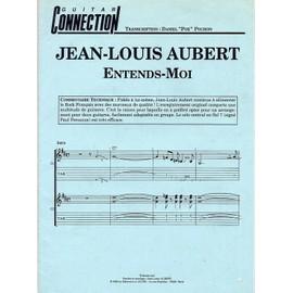 """JEAN-LOUIS AUBERT """"Entends-moi"""" partition"""