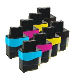 8x Haute Capacit� Cartouches D'encre Compatibles - Cyan / Yellow / Magenta / Black Pour Brother/Fax Dcp 110c Dcp 115c Dcp 117c Dcp 120c Dcp 310 Dcp 340cw 1840c 1940c 2440c