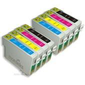 8x Haute Capacit� Cartouches D'encre Compatibles - Avec Puce - Cyan / Yellow / Magenta / Black Pour Epson/Stylus/Office/Wifi D & Dx Range S20 Sx200 Sx205 Sx400 Sx100 Sx115 Sx510w Sx610fw