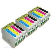 12x Cartouche D'encre Compatible Moreinks - Avec Puce - Cyan / Magenta / Jaune / Noir Pour Remplacer T0715 Pour Imprimantes: Epson Stylus Dx6050en Office Bx510 Sx218