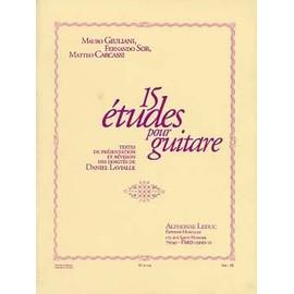 Giuliani/Sor/Carcassi:15 études pour guitare