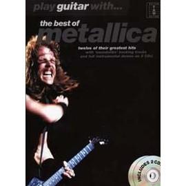 METALLICA PLAY GUITAR WITH BEST OF TAB 2 CD