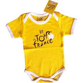 Body Bebe Maillot Jaune Tour De France Cyclisme Mode 100% Coton Pu�riculture
