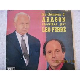Les chansons d'Aragon-L'affiche rouge-Tu n'en reviendra pas-Est ce ainsi que les hommes vivent