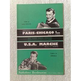 """""""paris-Chicago !...""""  (marche-revue)  par jacky noguez  //  """"U. S. A.  marche""""  par aimable"""