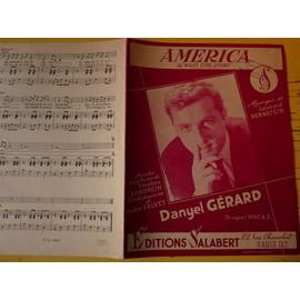Partition AMERICA de WEST SIDE STORY D.GERARD