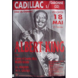 ALBERT KING Affiche de concert Blues 68 X 100
