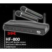 Double micro HF HF800 pour karaok�