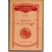 Discours De La M�thode / Les Classiques Pour Tous N� 38 de Ren� Descartes