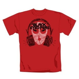 "TEE SHIRT HOMME ROUGE BLACK EYED PEAS ""OUT OF MY MIND"" TAILLE L"