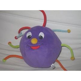 Balle En Tissu Berchet Gonflable 20cm Violette Avec Tiges Et Boules