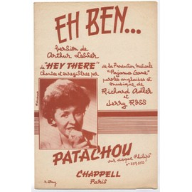 "eh ben ! ""hey there"" (arthur lesser / richard adler & jerry ross) / partition originale 1954"