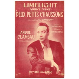 """deux petits chaussons (""""terrys theme"""" du film """"limelight"""") / jacques larue, charles chaplin / partition originale 1952"""