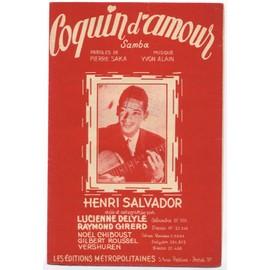 coquin d'amour (samba) / pierre saka, yvon alain / partition originale 1950