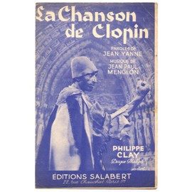 la chanson de clopin (jean yanne / jean-paul mengeon) partition originale 1957