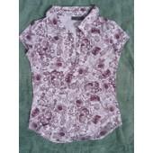 T-Shirt Zara Trafaluc , Taille M , Col Chemisier , Manches Courtes