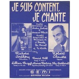 je suis content, je chante (andré salvet, jacques plait, menke, panas & lüth) / partition originale 1960, piano et chant