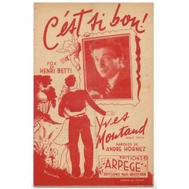 c'est si bon (andré hornez / henri betti) / partition originale 1947