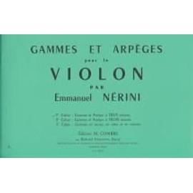 Gammes Et Arpeges  pour le violon Volume 1 Violon