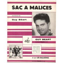 sac à malices (paroles et musique guy béart) / partition originale 1959, piano et chant