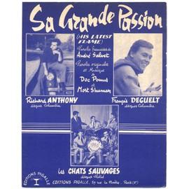 """sa grande passion """"his latest flame"""" (andré salvet, doc pomus, mort shuman) / partition originale 1961, piano et chant"""