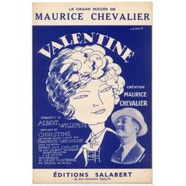 """valentine (de la revue du casino de paris """"paris qui chante"""" 1925) / albert willemetz, christiné / édition des années 50"""