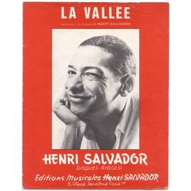 la vallée (paroles & musique henri salvador) / partition originale 1972, piano et chant