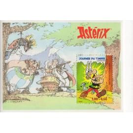 Bloc vignette asterix journée du timbre 1999