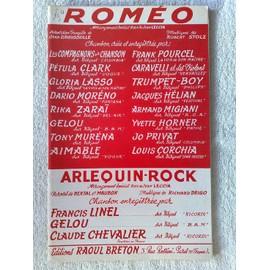 """deux rocks : """"roméo"""" (de J. leccia, A. Rebner, J. kennedy, J. broussolle, R. Stolz) et """"arlequin-rock"""" (de J. Leccia, bertal, maubon, R. Drigo)"""