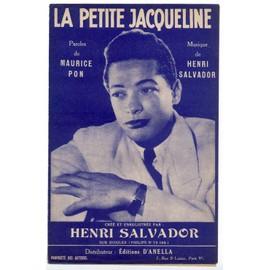 la petite jacqueline (maurice pon / henri salvador) / partition originale 1952