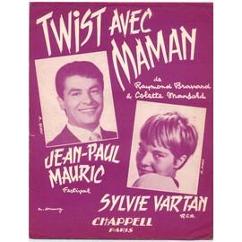 twist avec maman (raymond bravard / colette mansard) / partition originale 1962, piano et chant