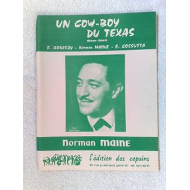 """un cow-boy du texas"" (slow-rock) de F. bonifay, Norman maine, E. Cossuta"