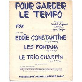 pour garder le tempo (jean dréjac / michel legrand) / partition originale 1957, piano et chant