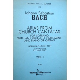 Bach - Arias from church cantatas, sop. , instr. obligé
