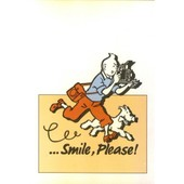 Tintin Et Milou - Carte Postale Smile, Please !