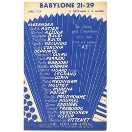 """babylone 21-29 """"allo brigitte..."""" (cha cha cha de georges liferman & norman maine) / partition 1960 pour l'accordéon"""